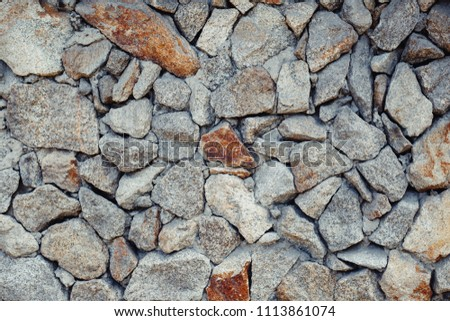 Decorative wall with stones #1113861074