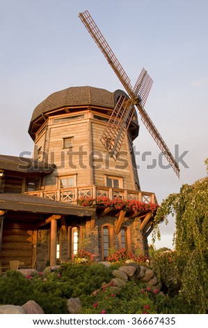 Decorative wooden mill