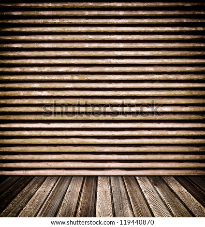Decorative wooden wall and floor for background
