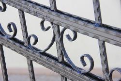 decorative wrought iron door and window