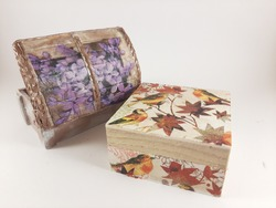 Decoupage techniques on jewelry boxes