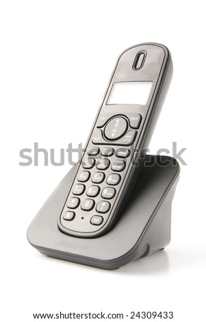dect cordless phone isolated on withe background