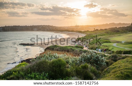 Dee Why beach in Australia at sunset. Сток-фото ©