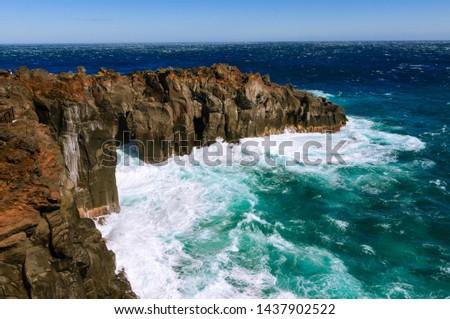 Deep and deep blue sea. Izu region of Japan #1437902522