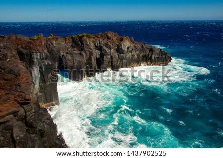 Deep and deep blue sea. Izu region of Japan #1437902525