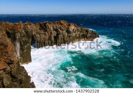 Deep and deep blue sea. Izu region of Japan #1437902528