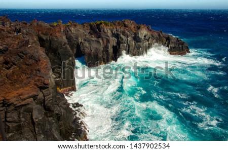 Deep and deep blue sea. Izu region of Japan #1437902534