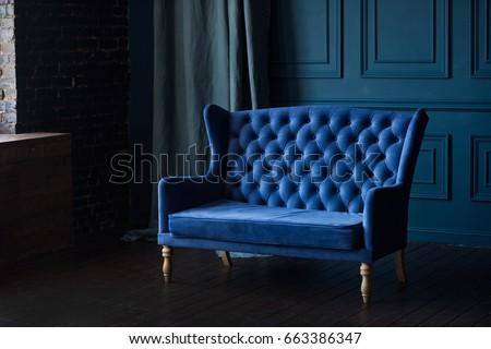 Deep blue interior #663386347