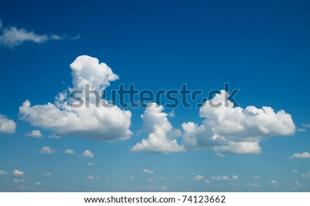 deep blue sky with clouds