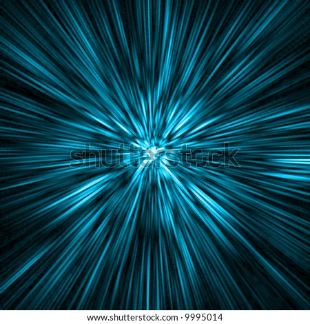 deep blue time-tunnel to another galaxy far away from earth
