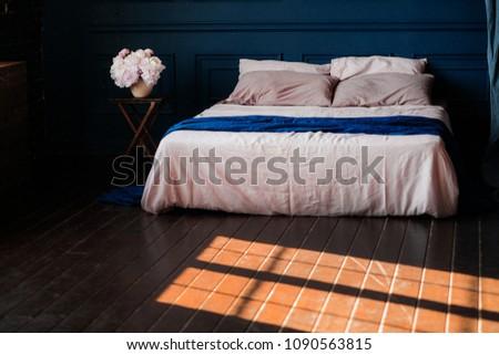 deep blue wall #1090563815