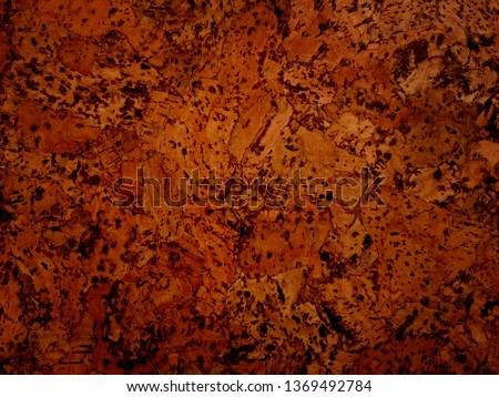 Deep brown background with balsa wood texture. Frame with copy space for your design. #1369492784
