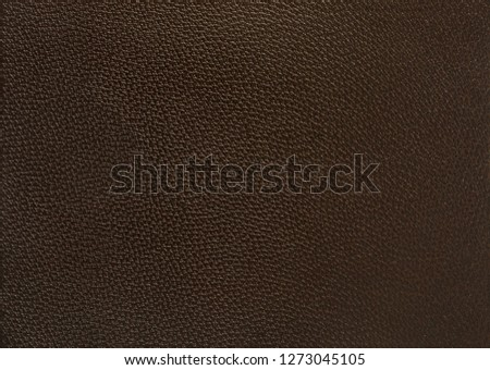 Deep brown leather texture background surface #1273045105