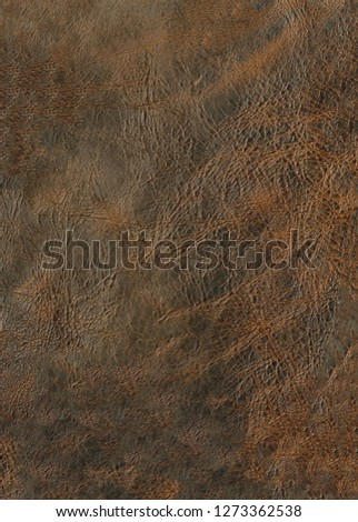 deep brown leather texture background surface, natural grains and pores #1273362538
