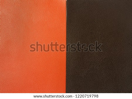 deep brown/ orange leather texture background surface #1220719798