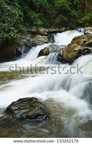 Deep forest Waterfall in Chiang Mai, Thailand