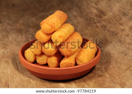 deep-fried croquettes