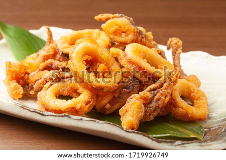 deep fried squids on a plate Сток-фото ©
