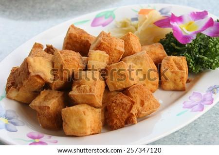Deep frying smell tofu Taiwan food
