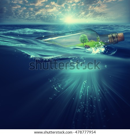 Deep ocean, marine backgrounds with waves and sea surface #478777954
