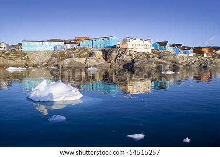 Deep pure waters of Greenland