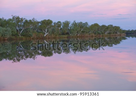 Deep Reach at dusk at  Millstream Chichester National Park