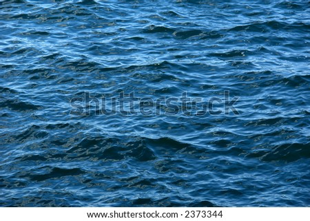 Deep rich color and detail of the Atlantic ocean with some jagged waves
