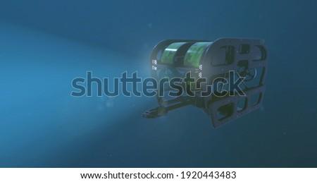 Deep Sea ROV Underwater 3D Rendered Сток-фото ©