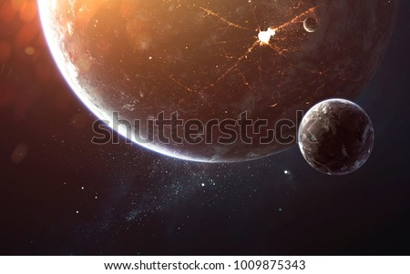 Deep space, beauty of endless cosmos. Science fiction wallpaper. Elements of this image furnished by NASA