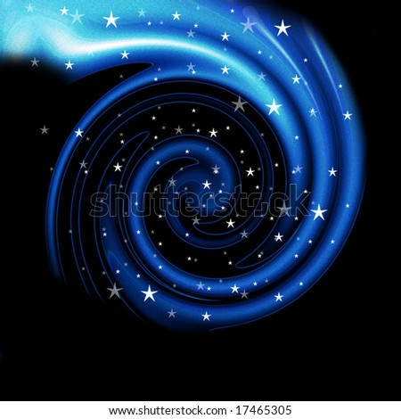 Deep space scene with galaxy and stars. Great for backgrounds and sci-fi scenes.
