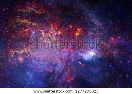 Deep space. Science fiction fantasy in high resolution ideal for wallpaper. Elements of this image furnished by NASA #1277205823