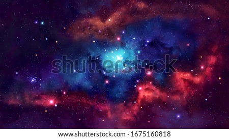 Deep Space Universe Beautiful Nebula.Universe filled with stars, nebula and galaxy.Space nebula, for use with projects on science, research, and education.