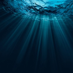 Deep water, abstract natural backgrounds