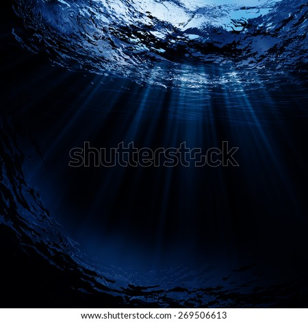 Deep water, abstract natural backgrounds #269506613