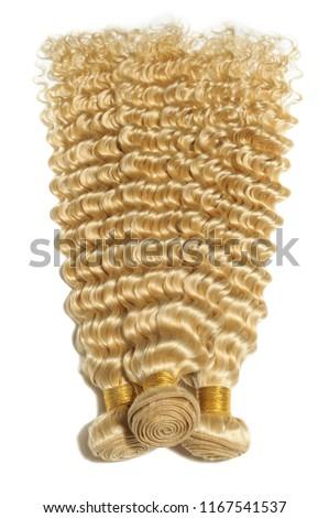 Deep wave bleached blonde human hair weaves extensions bundles