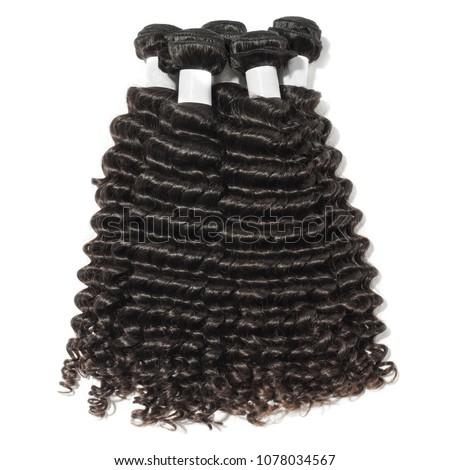 deep wave kinky curly black human hair weaves extensions bundles