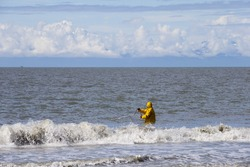 Deepnetting for King Salmon in Kenai peninsula, Alaska
