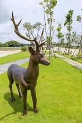 Deer statue in the garden