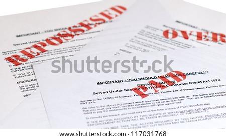 default Notices, (no genuine customer info, used)
