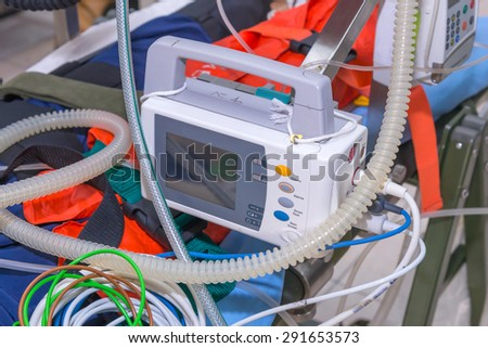 Defibrillator and medical equipments for Emergency Medical Service.