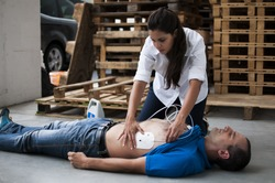 defibrillator electrodes