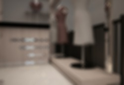 defoccused and blurr photo of reception and cashier of boutique outlet interior design