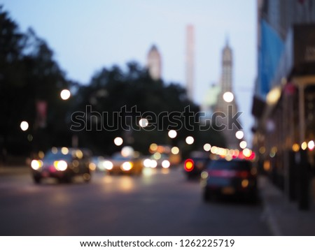 f0527337526dd Blurry out of focus New York City lights at night. Images and Stock ...