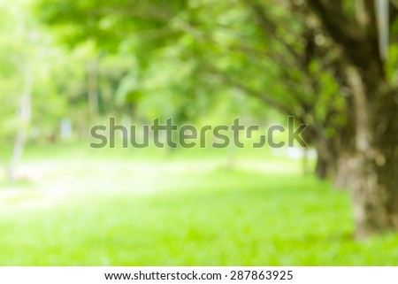 Defocus nature green bokeh, Defocused abstract nature background with green leaves and bokeh lights. - Shutterstock ID 287863925