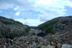 defocused abstract background of trash montain