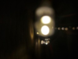 Defocused abstract background of Tumblr lamp