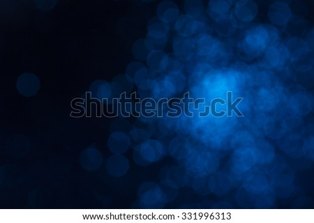 Defocused abstract blue christmas background