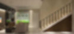 Defocused and Blur Photo of Luxury and Modern Living Room and Stair Interior Design