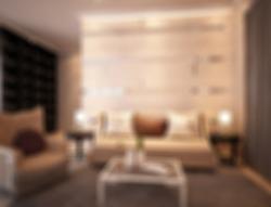Defocused and Blurr Photo of Modern Comfortable and Unique Living Room Interior Design