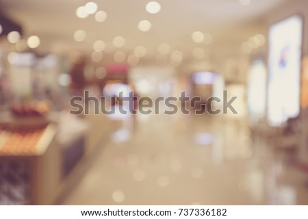 Defocused blur background of shopping mall #737336182
